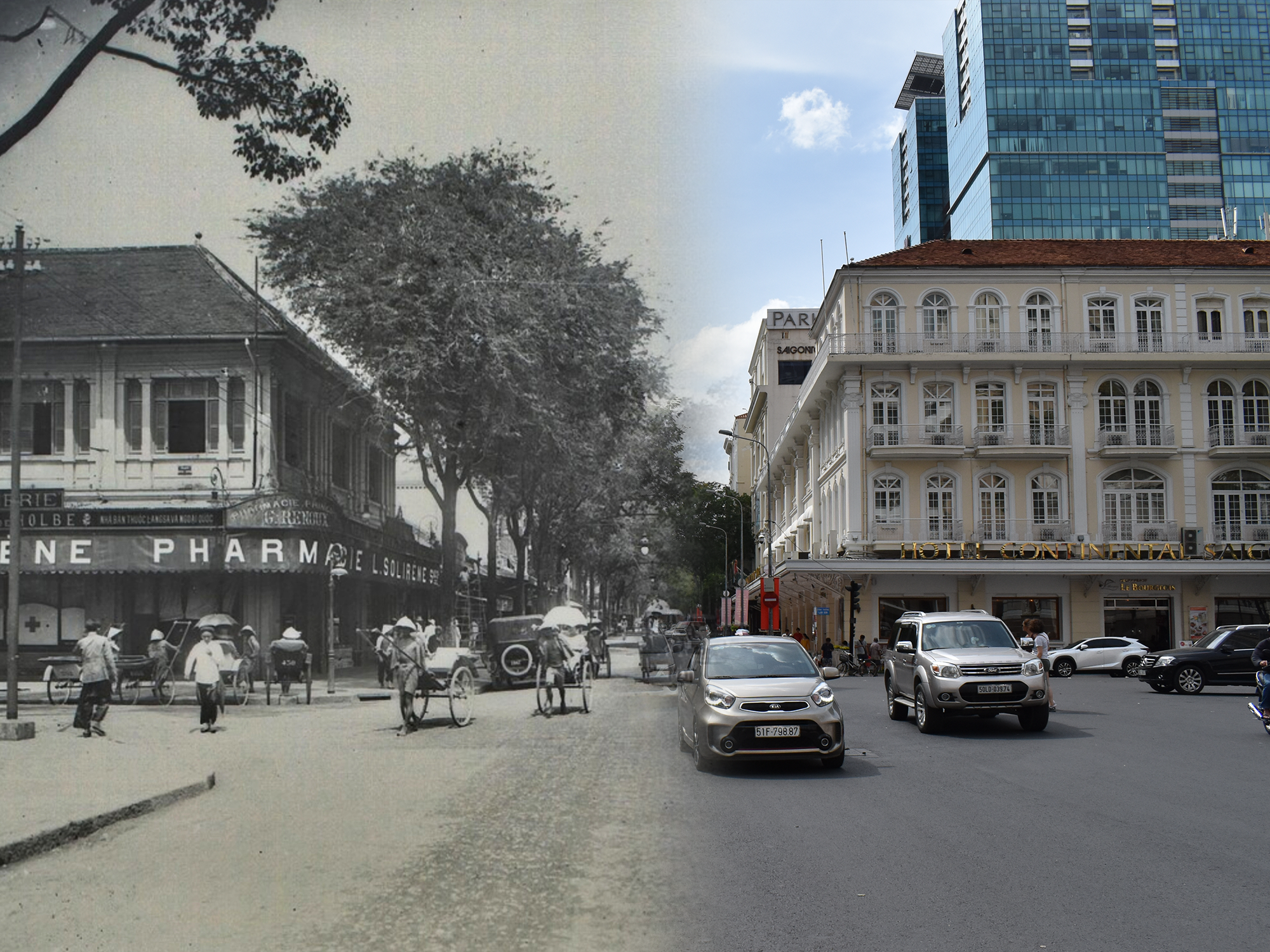 [Photos] Saigon Then & Now: Rue Catinat, Tu Do and Dong Khoi Street