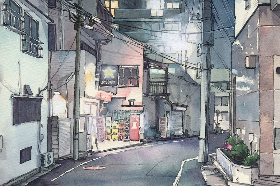 [Illustrations] Watercolor Paintings of Tokyo, a City That Defies Total Darkness
