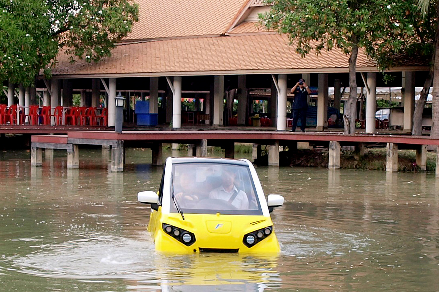 A Japanese Electric Car That Can Float on Water Is Coming to Vietnam