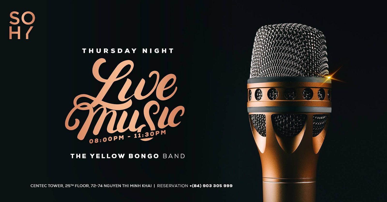 SOHY's LIVE Music Session @ SOHY Sky Lounge & Dining - Saigoneer