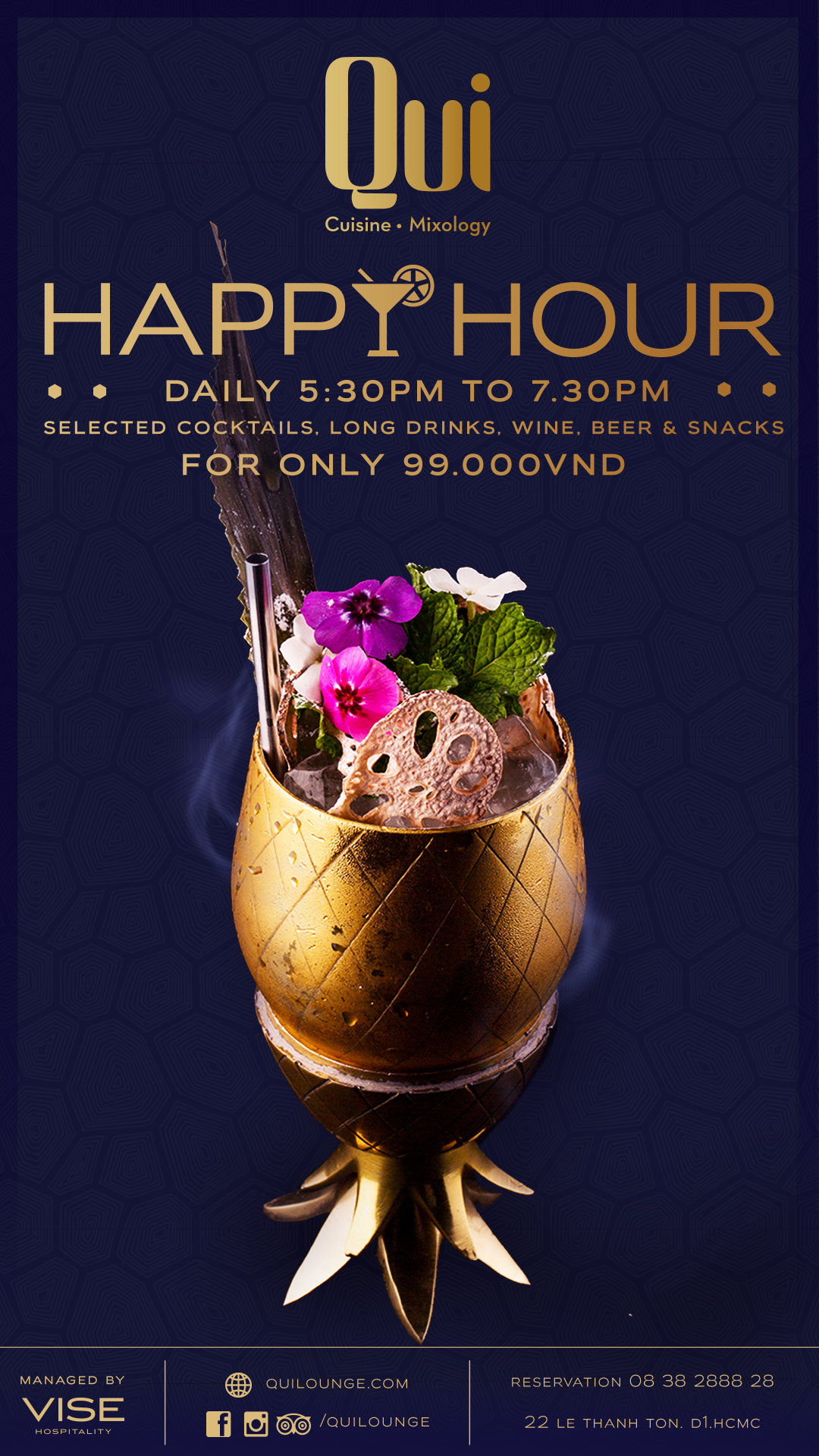 Qui Happy Hour @ Qui Dining Lounge | Saigoneer