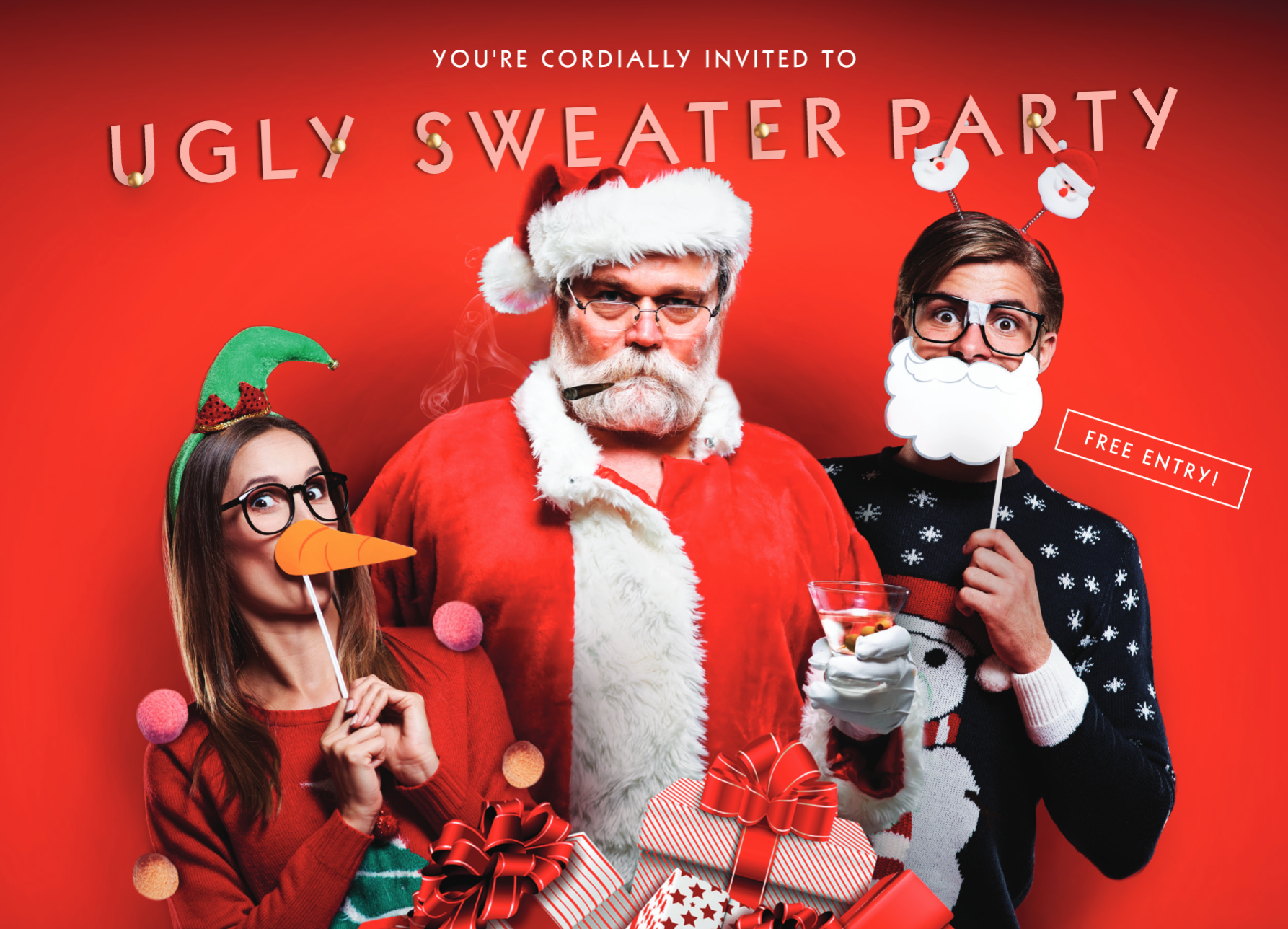 Ugly Sweater Party @ Corked Tales - The Cocktail Bar & Lounge
