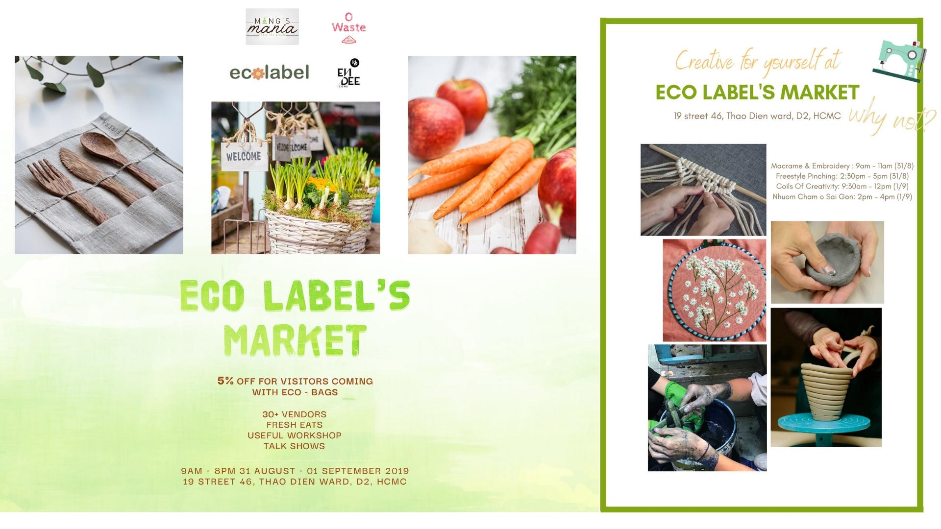 Eco Label's Market @ En - Dee Zone District 2 - Saigoneer