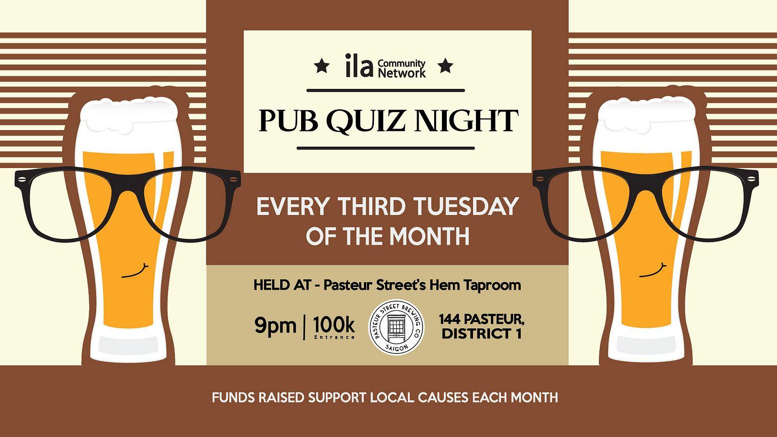 ILACN Charity Pub Quiz @ Pasteur Street - Saigoneer